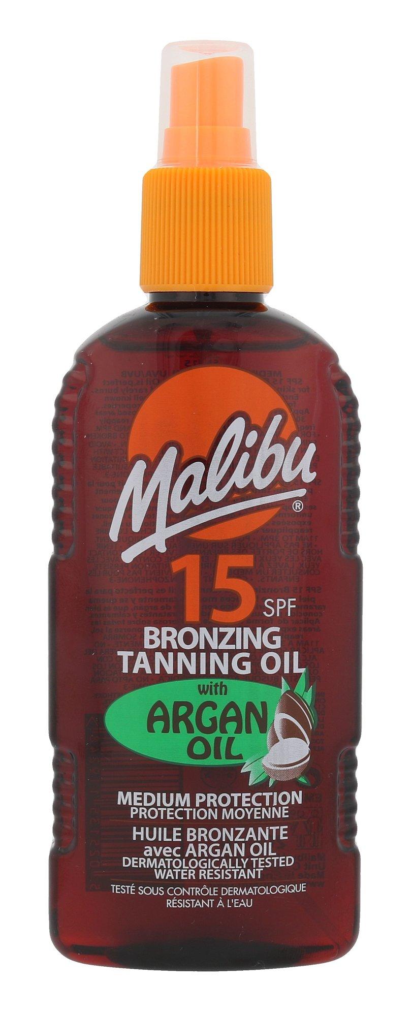 Malibu Bronzing Tanning Oil SPF15 Argan Oil