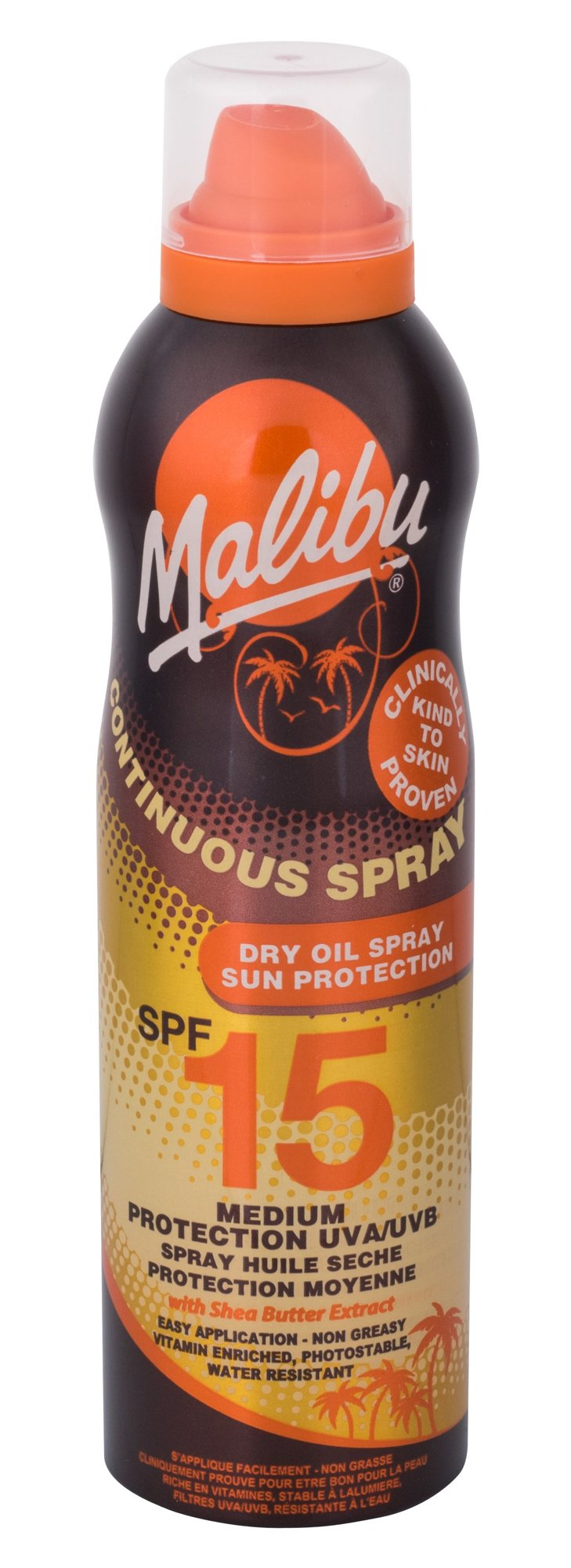 Malibu Continuous Spray Dry Oil Spray SPF15